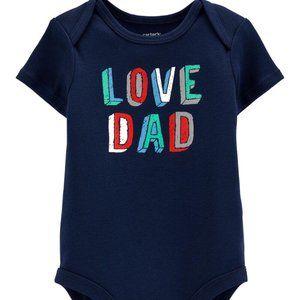 CARTER'S Boy's Love Dad Collectible Bodysuit | 12M